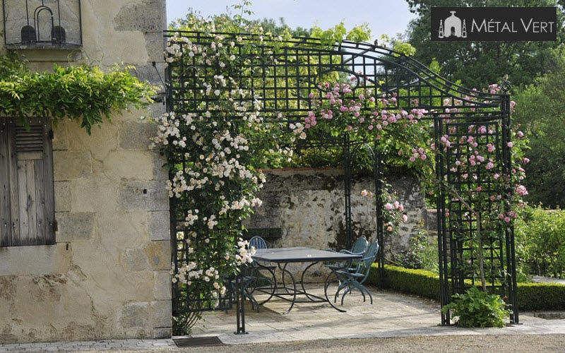 METAL VERT Pérgola Quioscos y cenadores Jardín Cobertizos Verjas... Terraza | Rústico