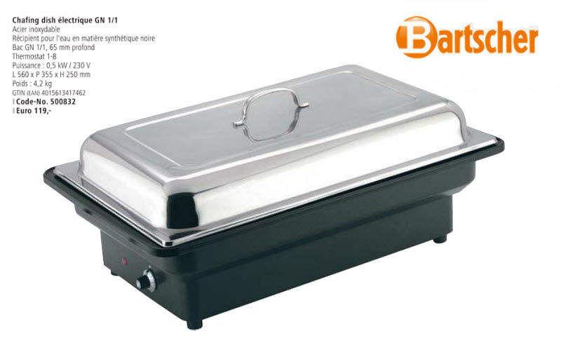 Bartscher Chafing Dish Servir y mantener caliente Mesa Accesorios   