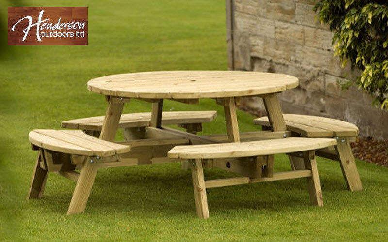 Henderson Outdoors Mesa de picnic Mesas de jardín Jardín Mobiliario  |
