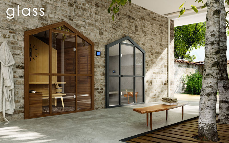 GLAss Sauna Sauna & hammam Baño Sanitarios Terraza | Design Contemporáneo