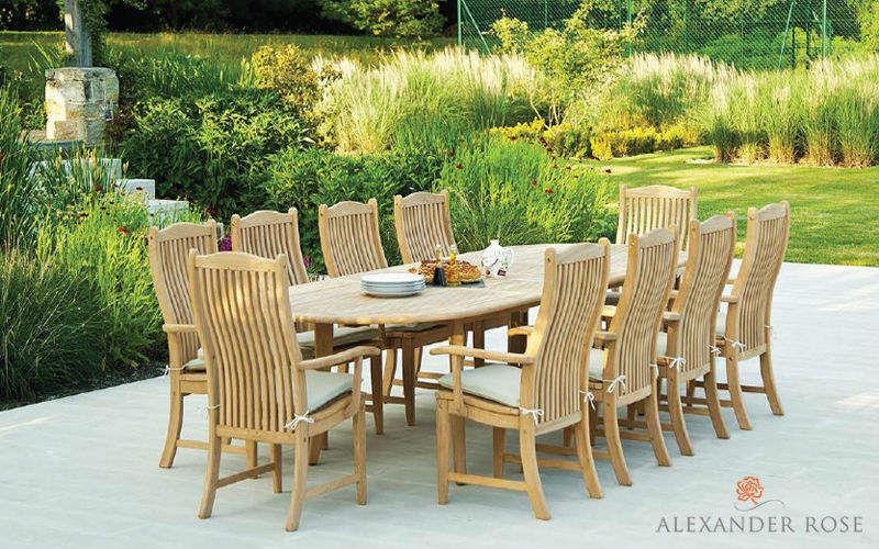 Alexander Rose Mesa de jardín Mesas de jardín Jardín Mobiliario Terraza | Rústico
