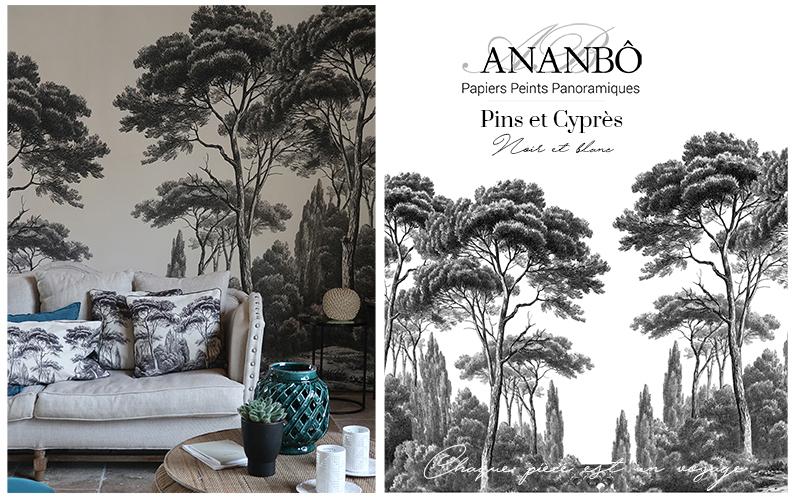 Ananbô Papel pintado panorámico Papeles pintados Paredes & Techos  |