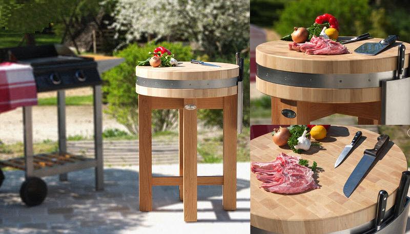LES BILLOTS DE SOLOGNE Tajo de cocina Salvaencimeras & trincheros Equipo de la cocina Jardín-Piscina | Rústico
