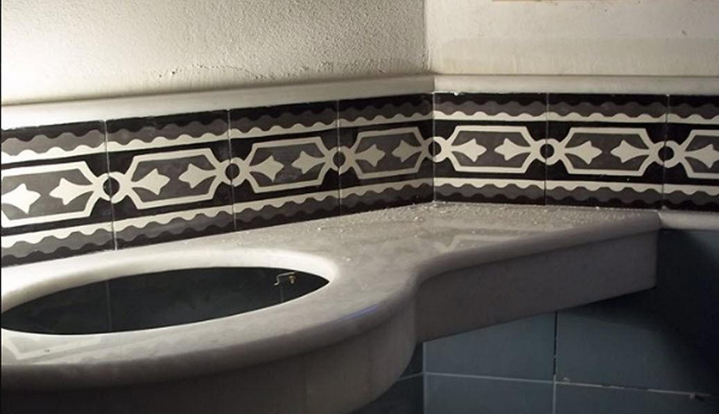 TSOURLAKIS TILES Friso Azulejos para paredes Paredes & Techos  |