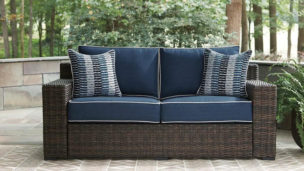 Ashley Furniture Industries Sofá para jardín Salones completos de jardín Jardín Mobiliario  |