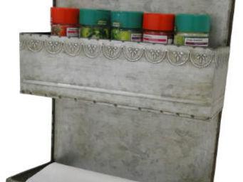 Antic Line Creations - etagère cuisine en zinc - Estantería De Cocina