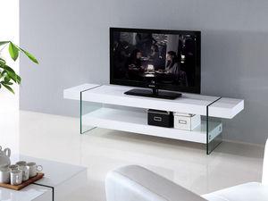 WHITE LABEL - meuble tv jade - Mueble Tv Hi Fi