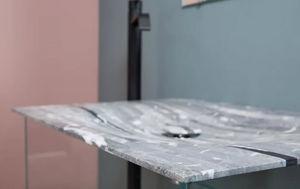 Lavabo de apoyo-Maison Derudet-Bleu de Savoie