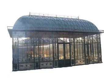 antiquites materiaux anciens deco de jardins - serre g9 en fer forgé - Invernadero