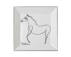 MARC DE LADOUCETTE PARIS - picasso le cheval 1920 27x27cm - Plato Decorativo