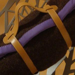 MIDIPY - plaid laine chocolat en haute laine pyrénéenne fin - Manta De Viaje / Plaid