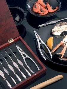 Brandani - coffret crustacés 8 pièces en inox 26x21x4cm - Cubierto Para Mariscos