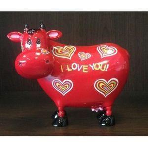 FAYE - tirelire vache rouge - Hucha
