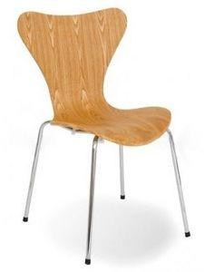 Arne Jacobsen - chaise sries 7 arne jacobsen 3107 bois structur -  - Silla