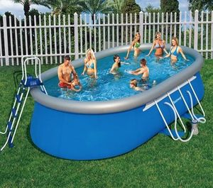 Bestway - piscine autoportante ovale fast set - 610 x 366 x  - Piscina Autosustentadora
