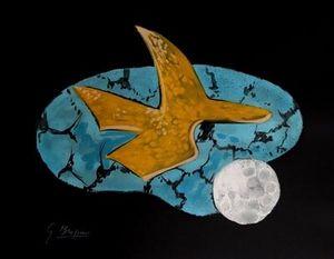 ARMAND ISRAËL - oiseau céleste de georges braque lithogr - Litografía