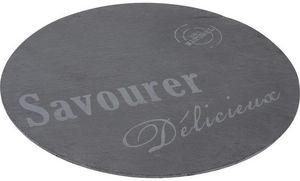 Aubry-Gaspard - plateau tournant en ardoise savourer - Bandeja