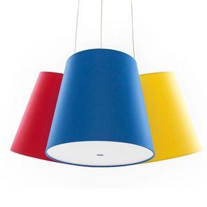 FrauMaier - cluster - suspension 3 abat-jours rouge/bleu/jaune - Lámpara Colgante