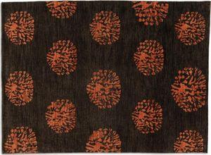 WHITE LABEL - basanti tapis laine marron - Alfombra Contemporánea