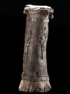 Arts Africains - tambour une peau - Tambor