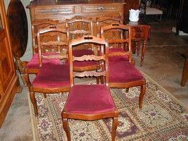Au Mobilier Vendéen - chaises fond tissu - Silla
