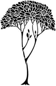 The Stencil Library - de111 motif no 3 - Plantilla De Estarcido