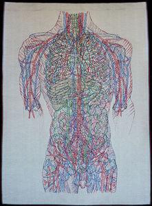NEOLICE - transparent torso e1 - Tapiz Contemporáneo