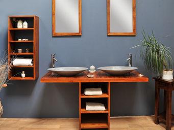 SANITECK - meuble de salle de bain en teck new gempo - Mueble De Ba�o Dos Senos