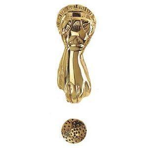 FERRURES ET PATINES - heurtoir de porte main en bronze - Aldaba
