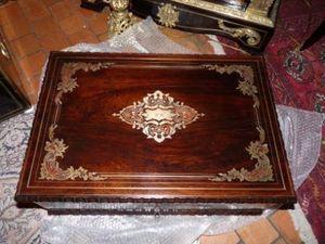 Art & Antiques - coffret à cachemire en acajou et décor de marquete - Caja De Casimires