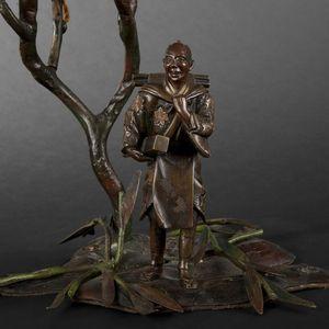 Expertissim - lampe de bureau en bronze - Pie De Lámpara