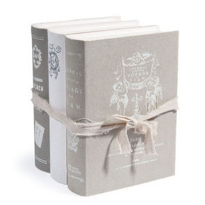 Maisons du monde - boite livres aristo grise - Libro Falso