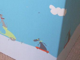 ICI LA TERRE - coffre à jouets en bois personnalisable - napoli c - Baúl Para Juguetes