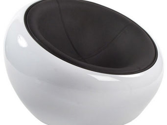 Alterego-Design - fauteuil boule lounge 'atmo' pivotant. coque bla - Sill�n Bajo