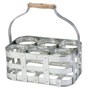 La Chaise Longue - porte bouteilles en métal galvanisé avec anse - Botellero