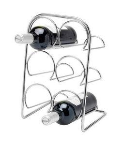 Tellier Gobel - rack à vin pour 6 bouteilles en métal chromé 22x19 - Botellero