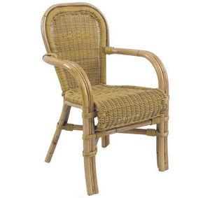 Aubry-Gaspard - fauteuil maastricht en malacca synthétique - Sillón De Jardín