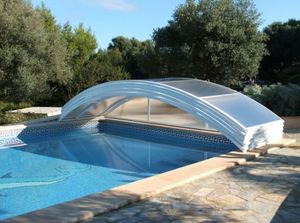 Abri piscine POOLABRI - relevable - Cubierta De Piscina Baja Clásica