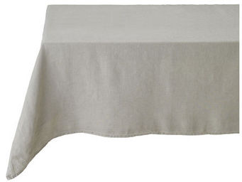 Athezza Home - nappe lin lav� beige 150x150cm - Mantel Rectangular