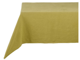 Athezza Home - nappe lin lav� vert anis 150x150cm - Mantel Rectangular