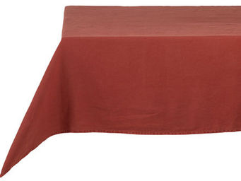Athezza Home - nappe lin lav� rouge 150x250cm - Mantel Rectangular