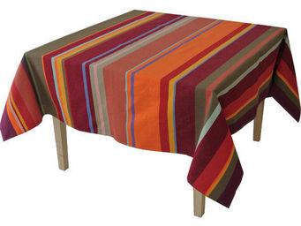 Les Toiles Du Soleil - nappe carrée collioure rouge - Mantel Cuadrado