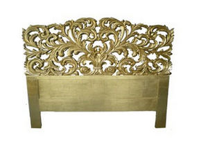 DECO PRIVE - tete de lit 180 cm bois dore et sculptee elise - Cabecera