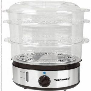 TECHWOOD - cuiseur vapeur inox - Vaporera Eléctrica