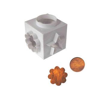 WHITE LABEL - cube emporte pièce formes géométriques transparent - Sacabocados