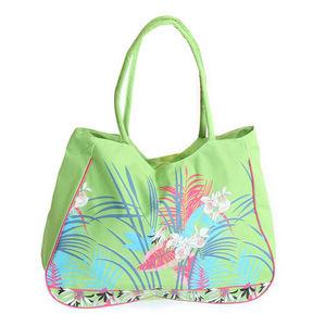 WHITE LABEL - sac cabas motif tropical - Bolso