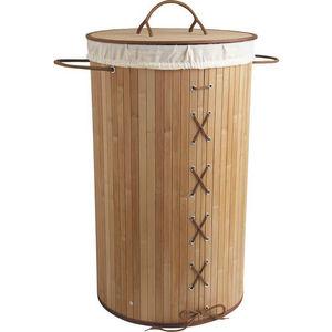 Aubry-Gaspard - panier à linge corset en bambou - Cesto Para La Ropa