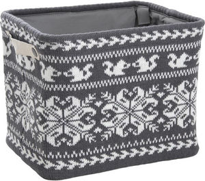 Aubry-Gaspard - corbeille de rangement en laine 36x26x30cm - Cesto Para La Ropa