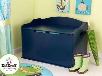 KidKraft - coffre � jouets bleu fonc� en bois 76x46x54cm - Ba�l Para Juguetes