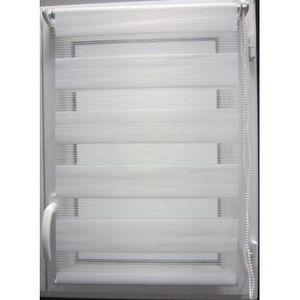 Luance - store lumière et nuit blanc 60x180cm - Estor Enrollable